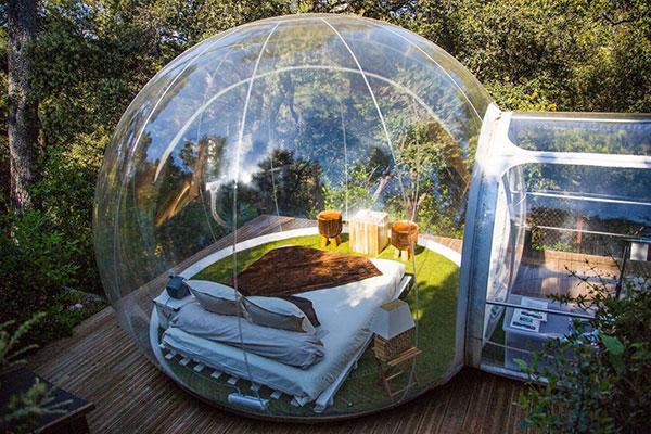 Une chambre/bulle transparente sur Allauch (source)